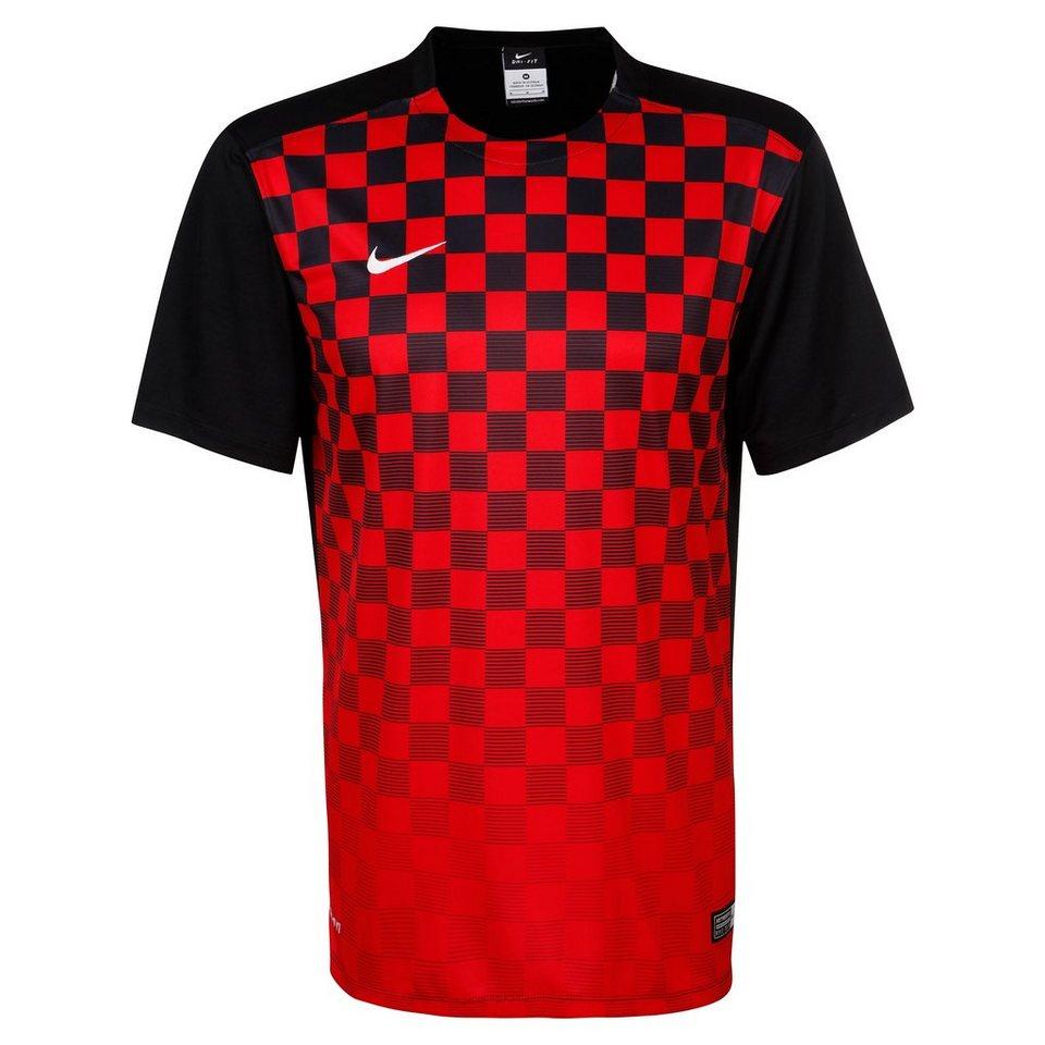 NIKE Precision III Fußballtrikot Herren in rot / schwarz