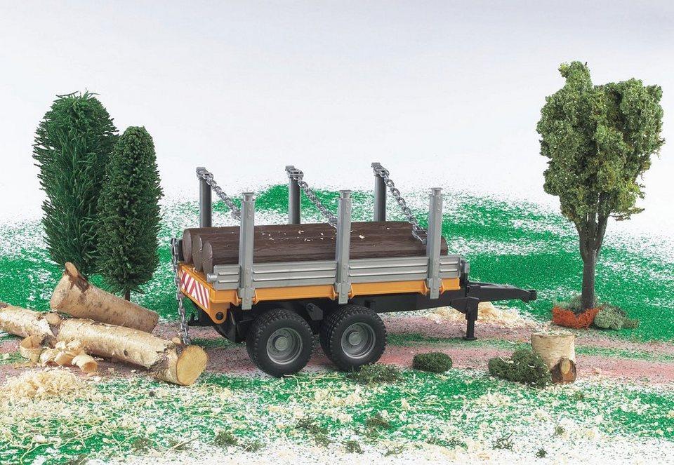 bruder® Anhänger, »Holzanhänger mit 3 Baumstämmen«