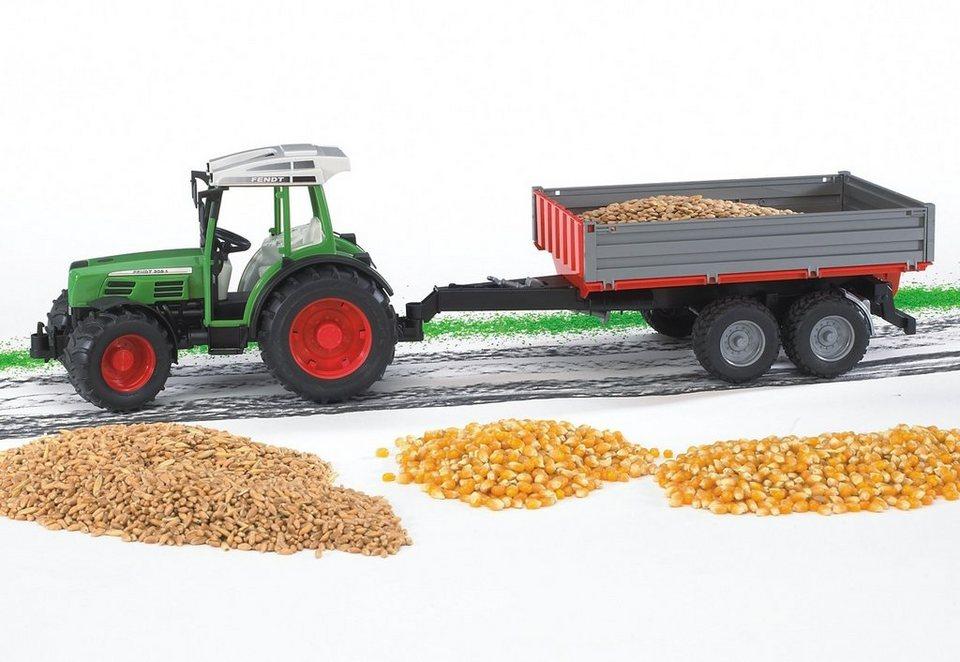 bruder® Traktor, »Fendt 209 S + Bordwandanhänger - grün« in grün
