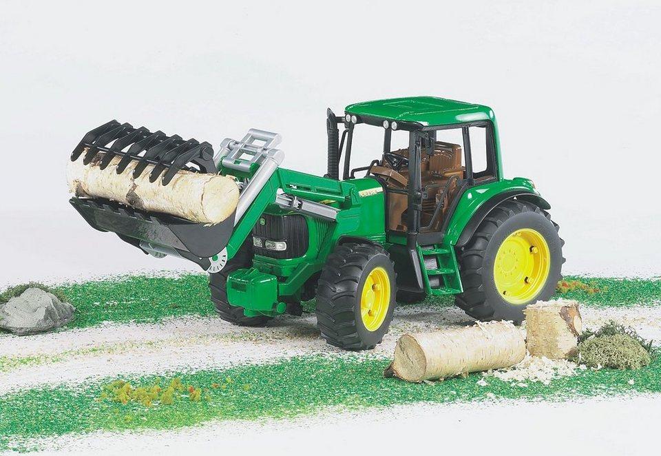 bruder® Traktor, »John Deere 6920 + Frontlader - grün« in grün