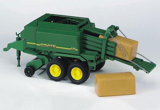 Bruder® Spielfahrzeug-Anhänger »John Deere Großballenpresse - grün«, 02017, Made in Germany