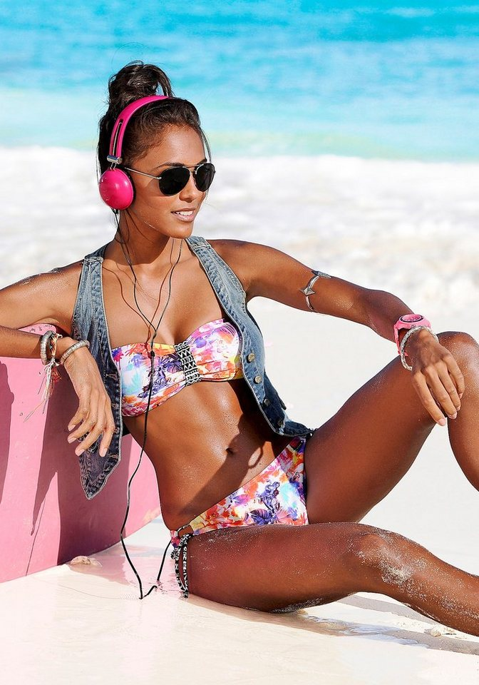 """Bikini-Hose """"Spring"""", Venice Beach in bunt bedruckt"""