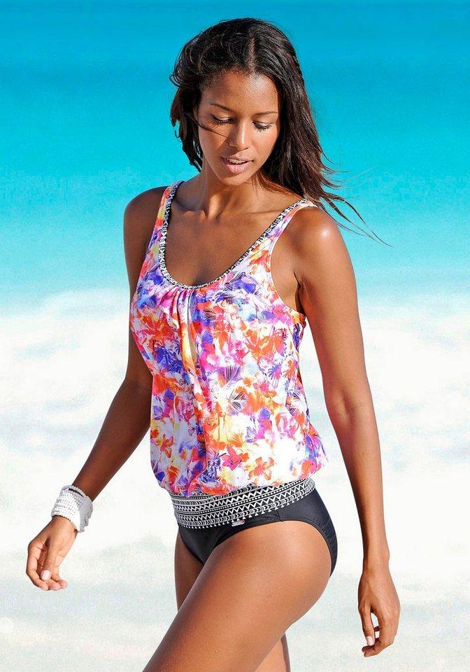 "Oversize-Tankini-Top ""Spring"", Venice Beach in bunt bedruckt"