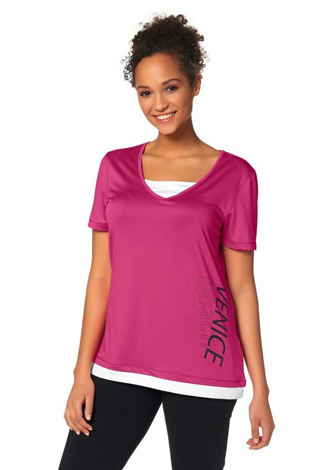 Venice Beach Funktions-T-Shirt in Pink