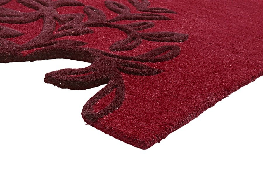 Hochflor-Teppich in rot
