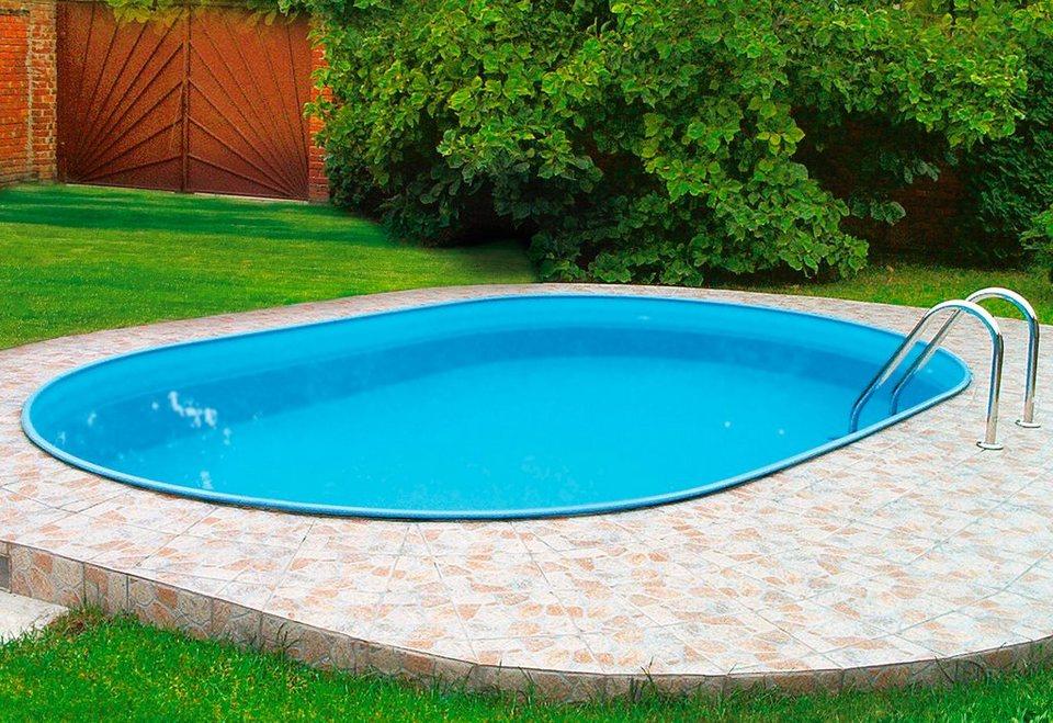 Set: Ovalpool »Premium Oval« (9-tlg.) in weiß