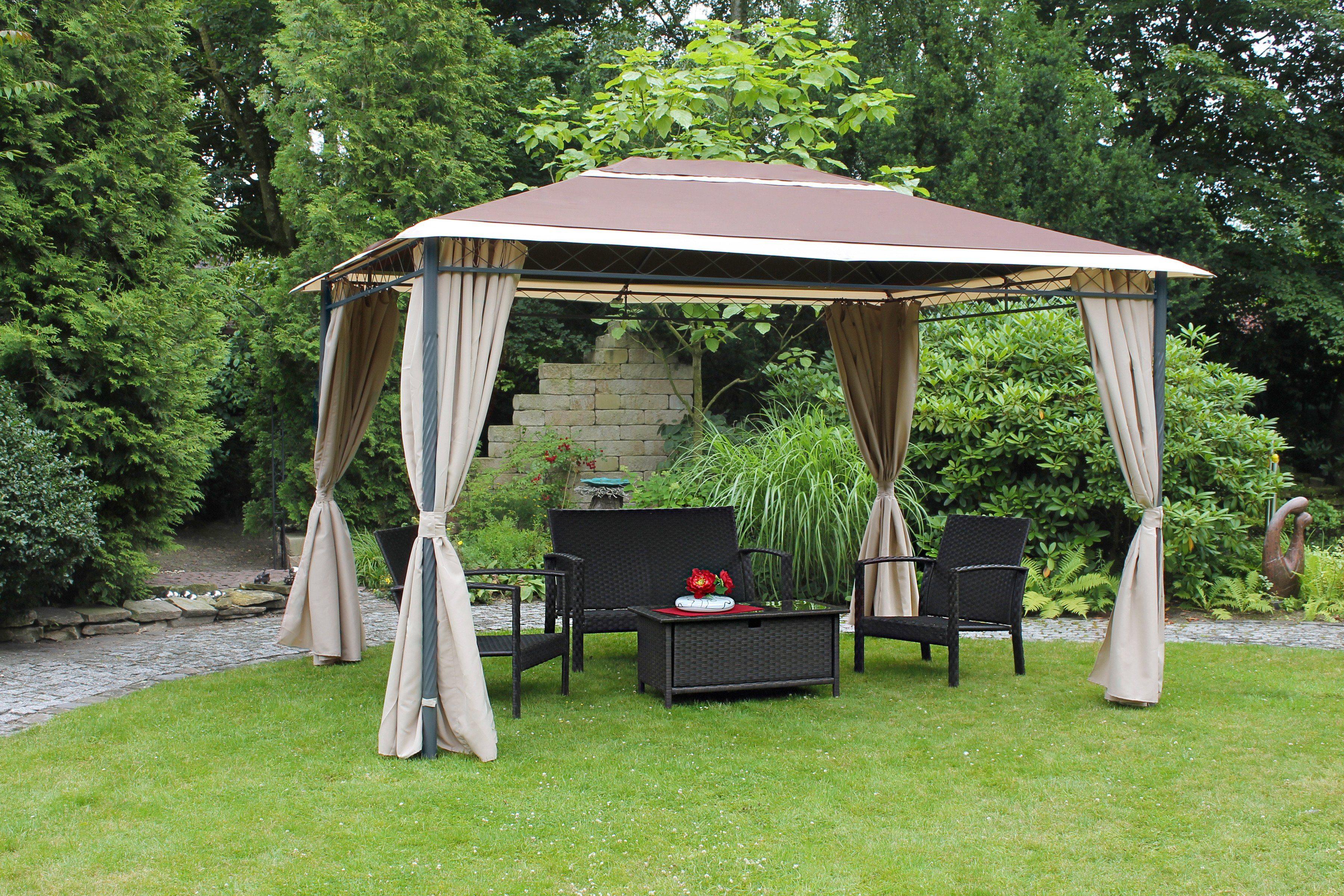 Leco Pavillon »Antik«, BxL: 300 x 390 cm, beige-braun