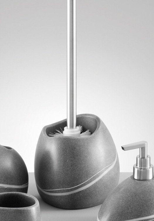 WC-Garnitur »Stein-Optik« in grau