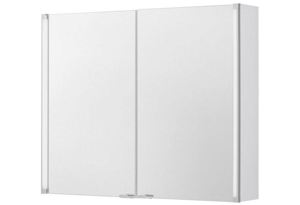 Spiegelschrank »LED-LINE«, Breite 81 cm in weiß