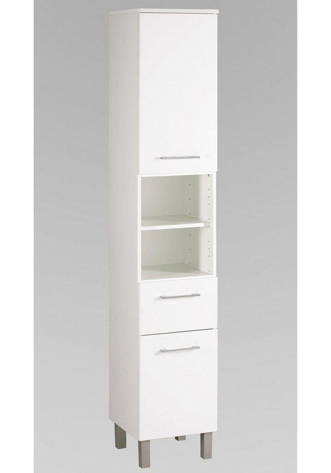Held Möbel Seitenschrank »Salerno«, Breite 35 cm in weiß