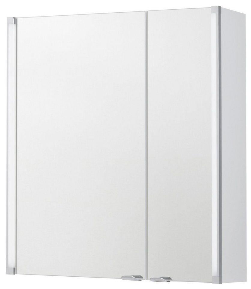 Fackelmann Spiegelschrank »LED-LINE« Breite 61 cm, mit LED-Beleuchtung in weiß