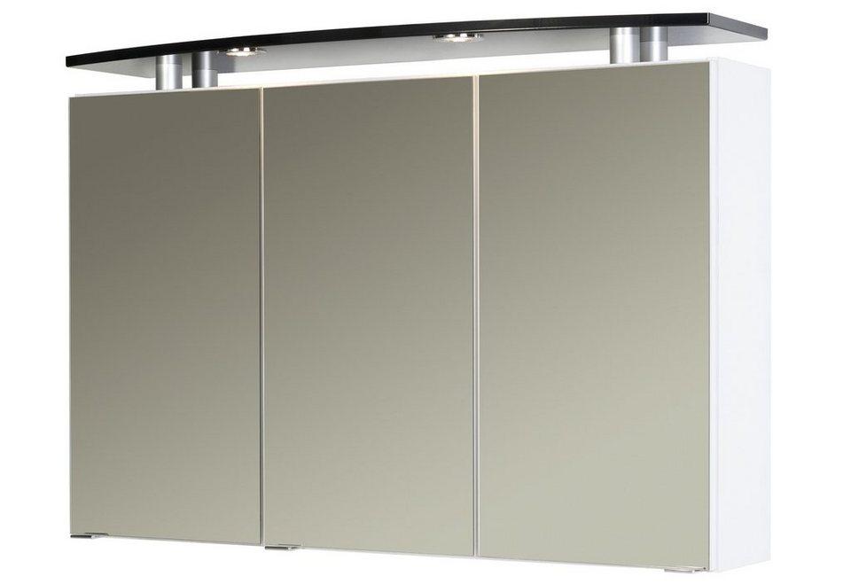 Held Möbel Spiegelschrank »Next« Breite 105 cm, mit Beleuchtung in weiß