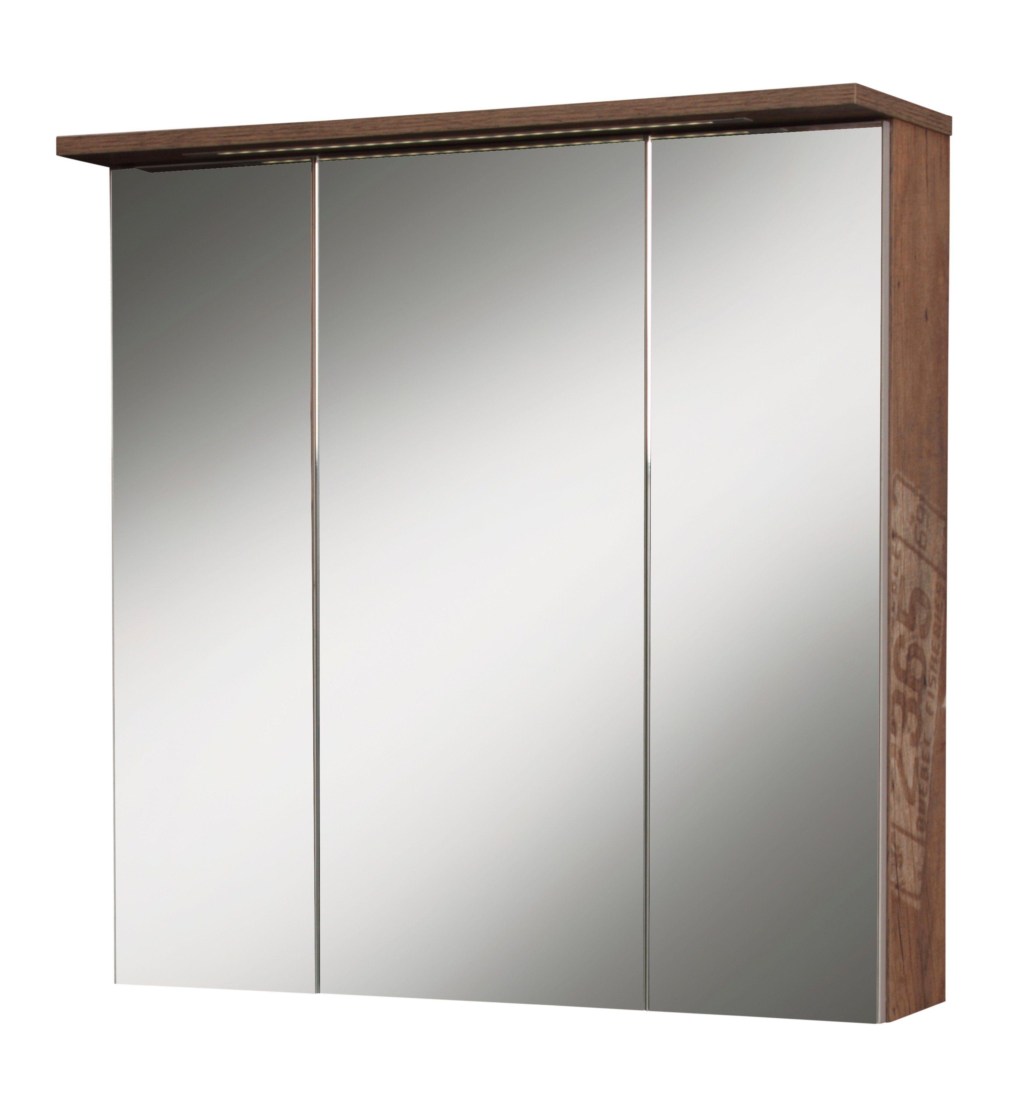 Schildmeyer Spiegelschrank »London« Breite 70 cm, mit Beleuchtung