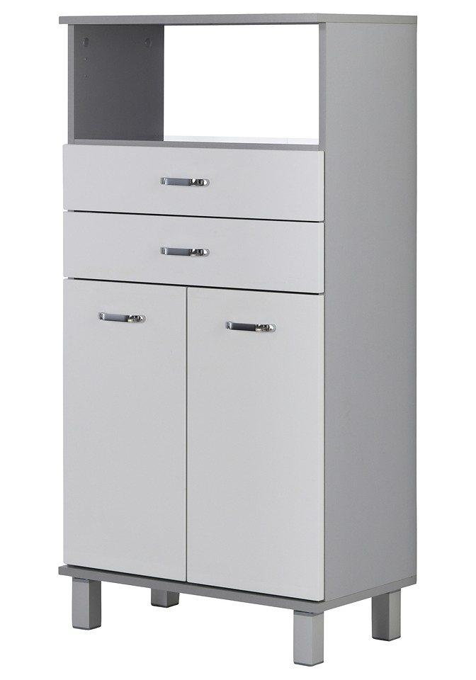 Schildmeyer Midischrank »Dallas«, Breite 60 cm in weiß/silberfarben