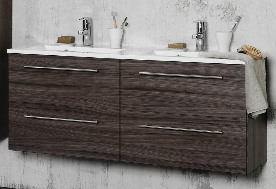 Held Möbel Waschtisch »Prato«, Breite 120 cm, (2-tlg.) in eichefarben