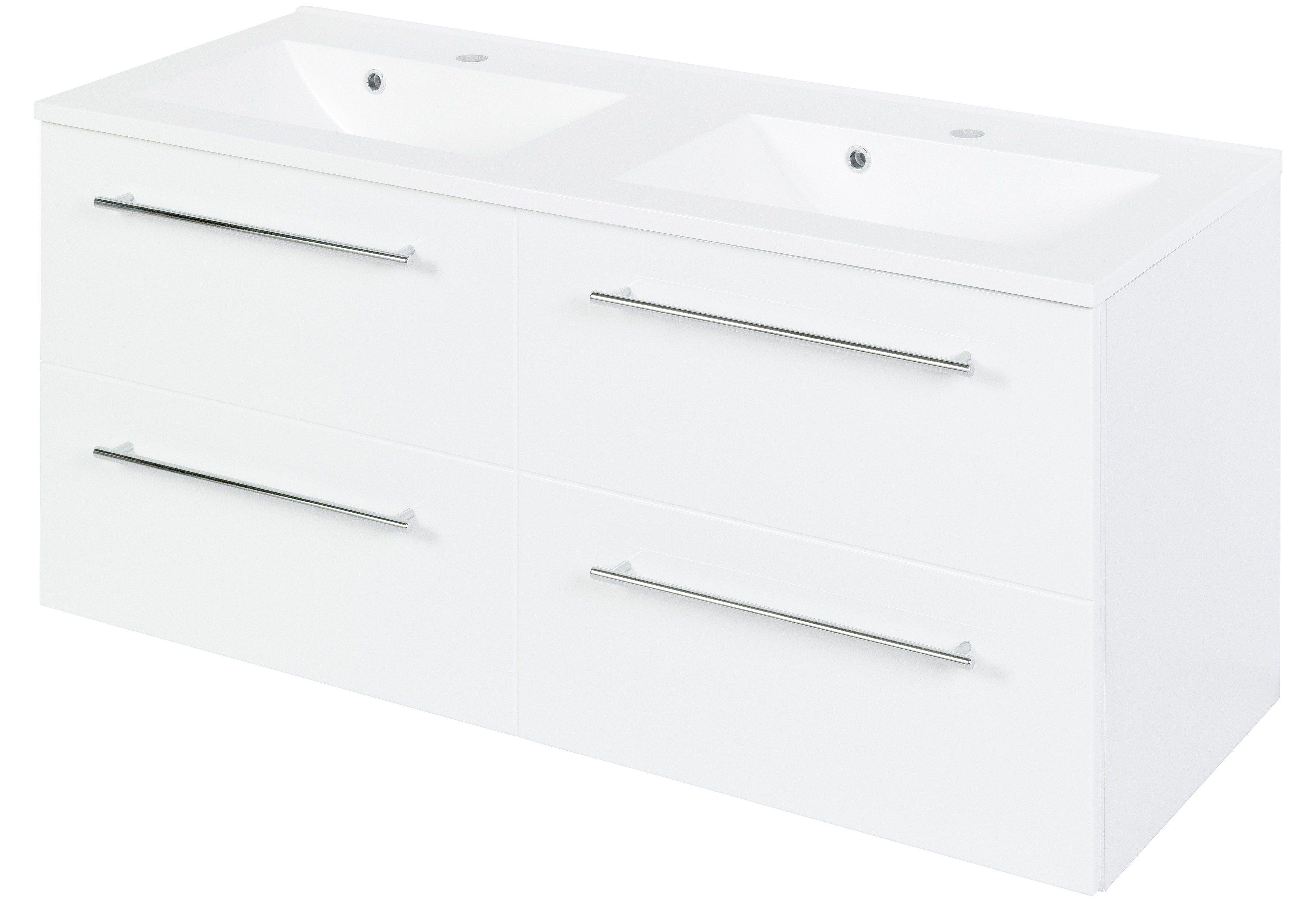 HELD MÖBEL Waschtisch »Prato«, Doppelwaschbecken & Doppelwaschtisch Breite 120 cm, (2-tlg.) | Bad > Badmöbel > Badmöbel-Sets | HELD MÖBEL
