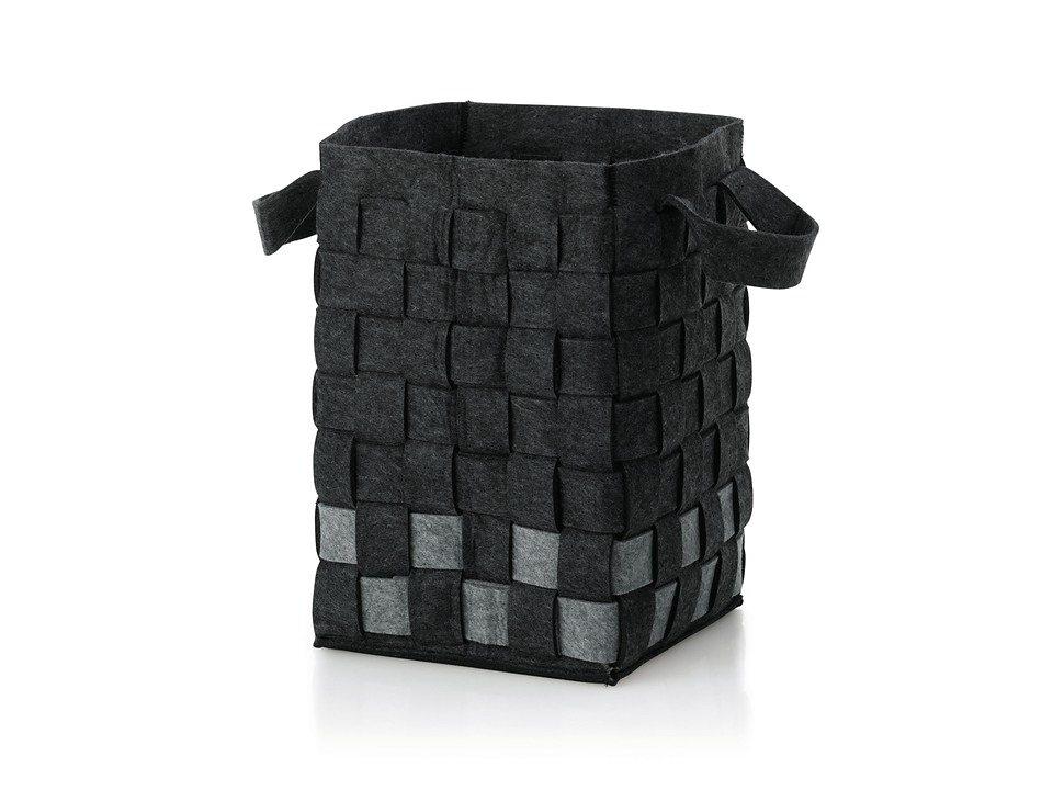 Wäschekorb »Sila« in schwarz