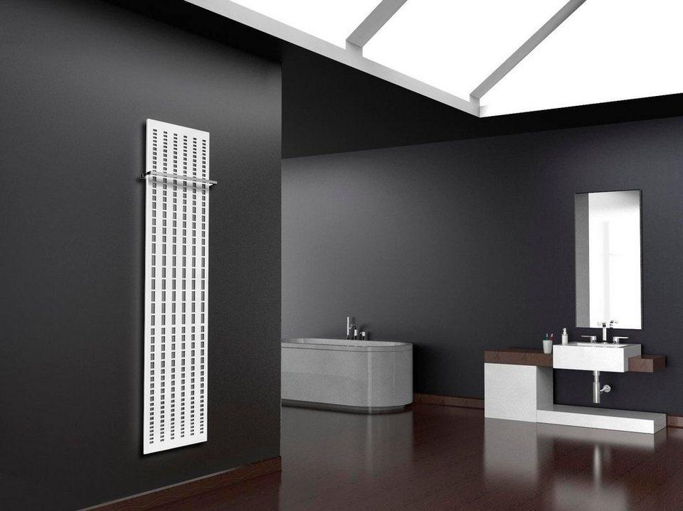 Design-Badheizkörper »Broken Mirror« in edelstahl-weiß, 1118 Watt in silberfarben, weiß