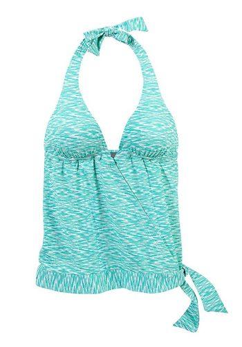Damen Venice Beach Tankini-Top Melange in melierter Optik grün | 04893865722394