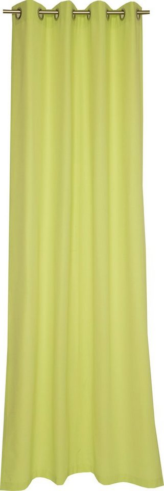 Vorhang, Schöner Wohnen, »Mono«, mit Ösen (1 Stück) in lime