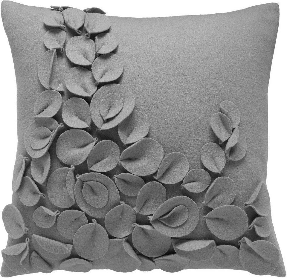 Kissenhülle, Schöner Wohnen, »Fleur« (1 Stück) in grau