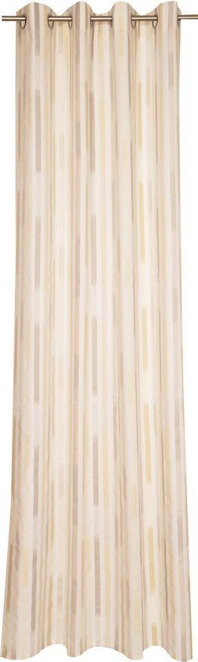 Vorhang, Schöner Wohnen, »Straps«, mit Ösen (1 Stück) in grau-creme