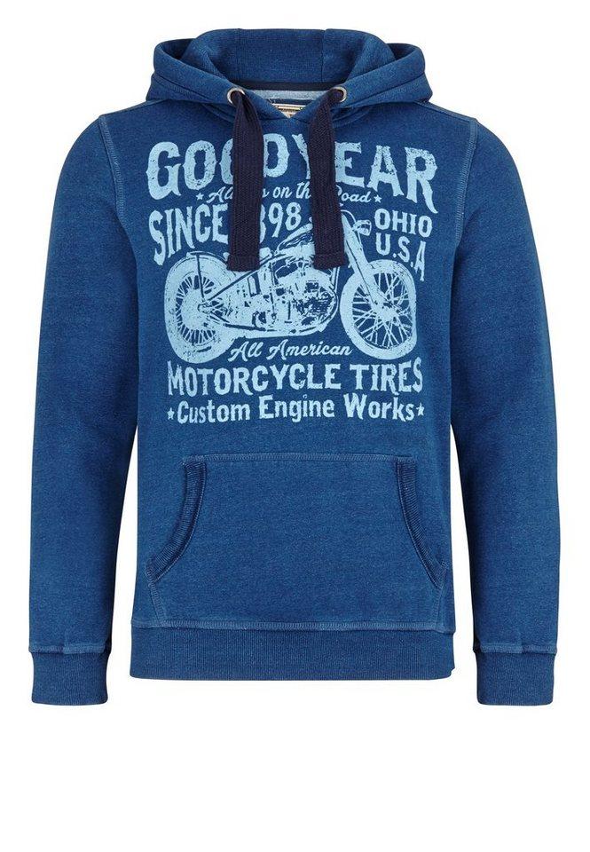 Goodyear Hoodie in Blue Denim used