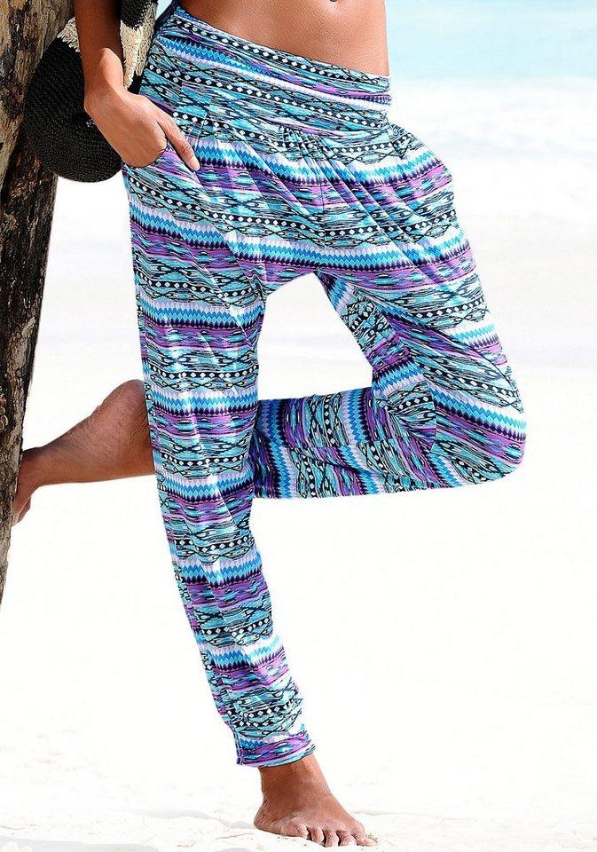 Damen s.Oliver RED LABEL Beachwear  Strandhose mit schmaler Form grün | 04893848514305