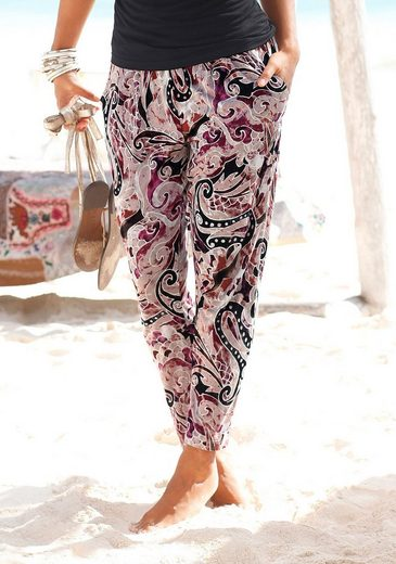 Lascana Beach Pants Printed Or Uni