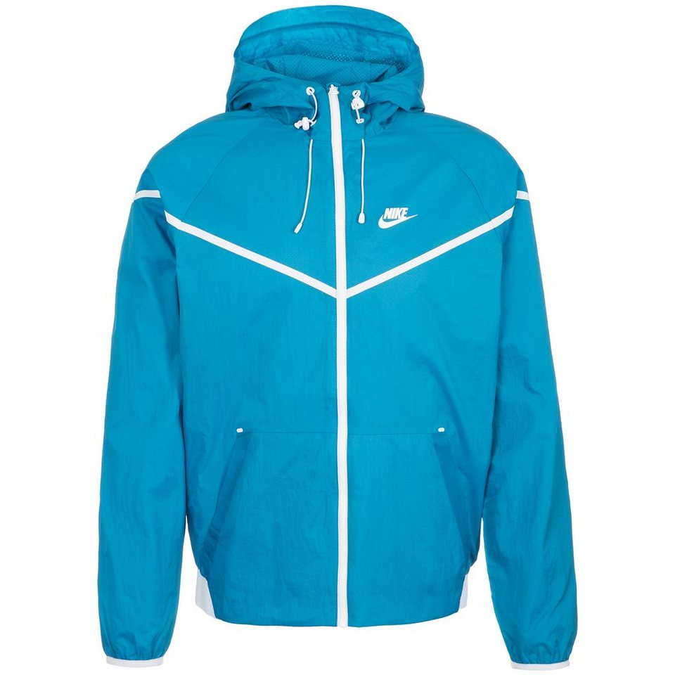 Nike Sportswear Tech Aeroshield Windrunner Kapuzenjacke Herren in blau / weiß