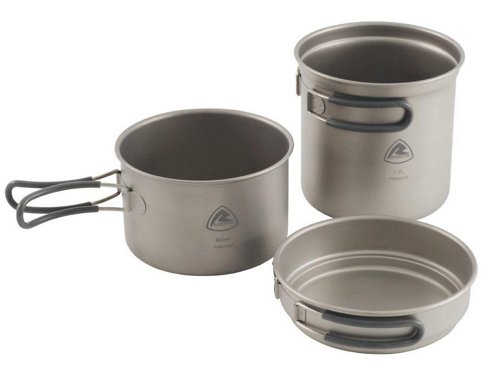 Robens Camping-Geschirr »Titanium Cook Set« in silber