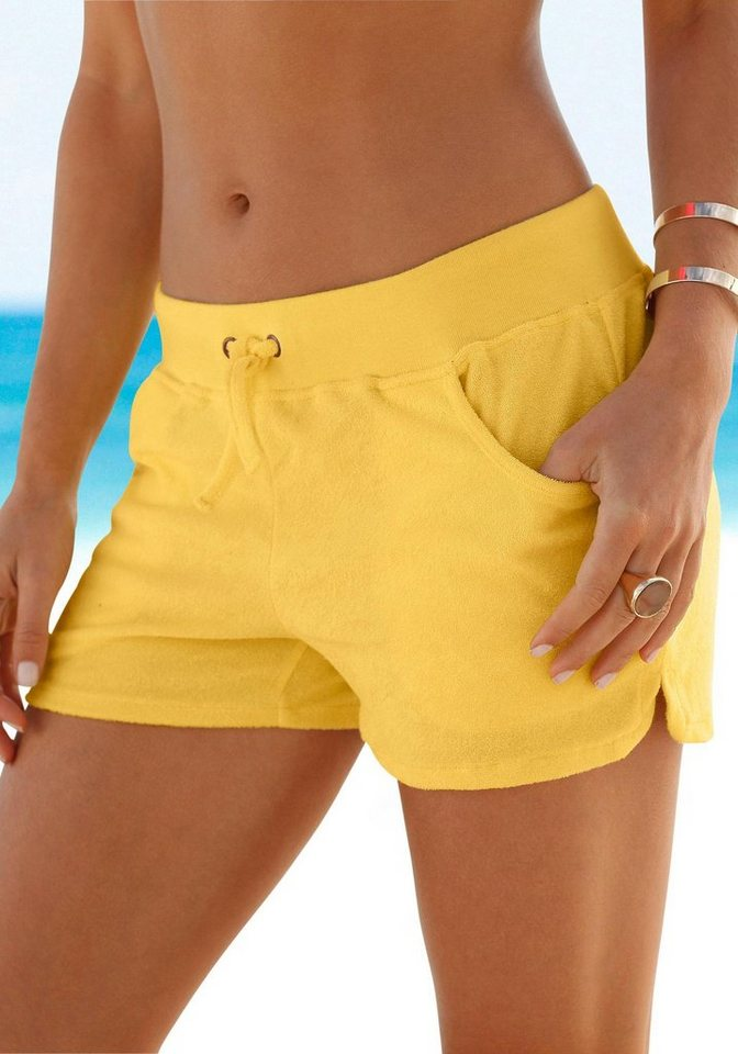 Beachtime Hotpants aus weichem Frottee in vanille