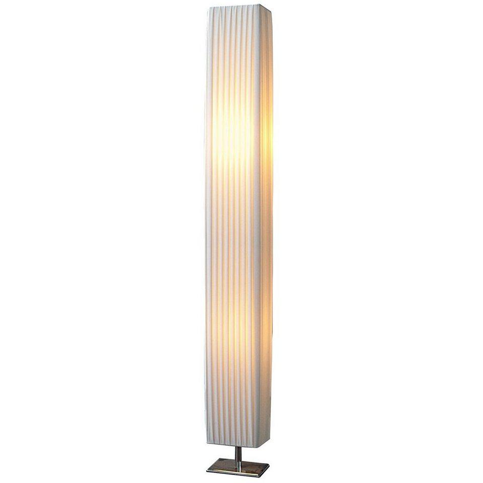 TRANGO LED Stehlampe, 5SL Design Plissee LED Stehleuchte *CANNES*  Stehlampe inkl. 5x E57 LED Leuchtmittel, Wohnzimmer, Lampe, Standleuchte  eckig –