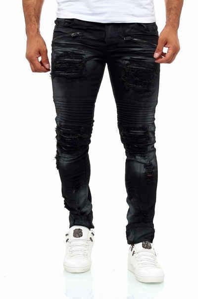 KINGZ Slim-fit-Jeans im angesagten Destroyed-Look
