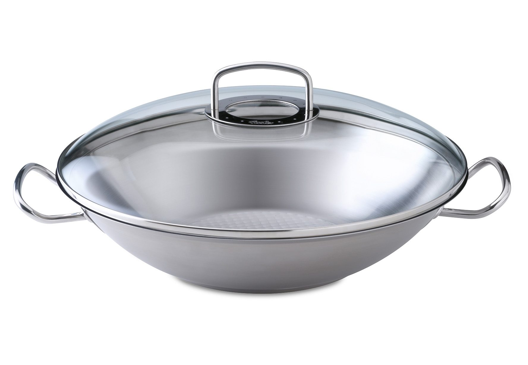 Original-profi collection Wok mit Glasdeckel, Ø 36 cm, 5,7 Liter Fissler