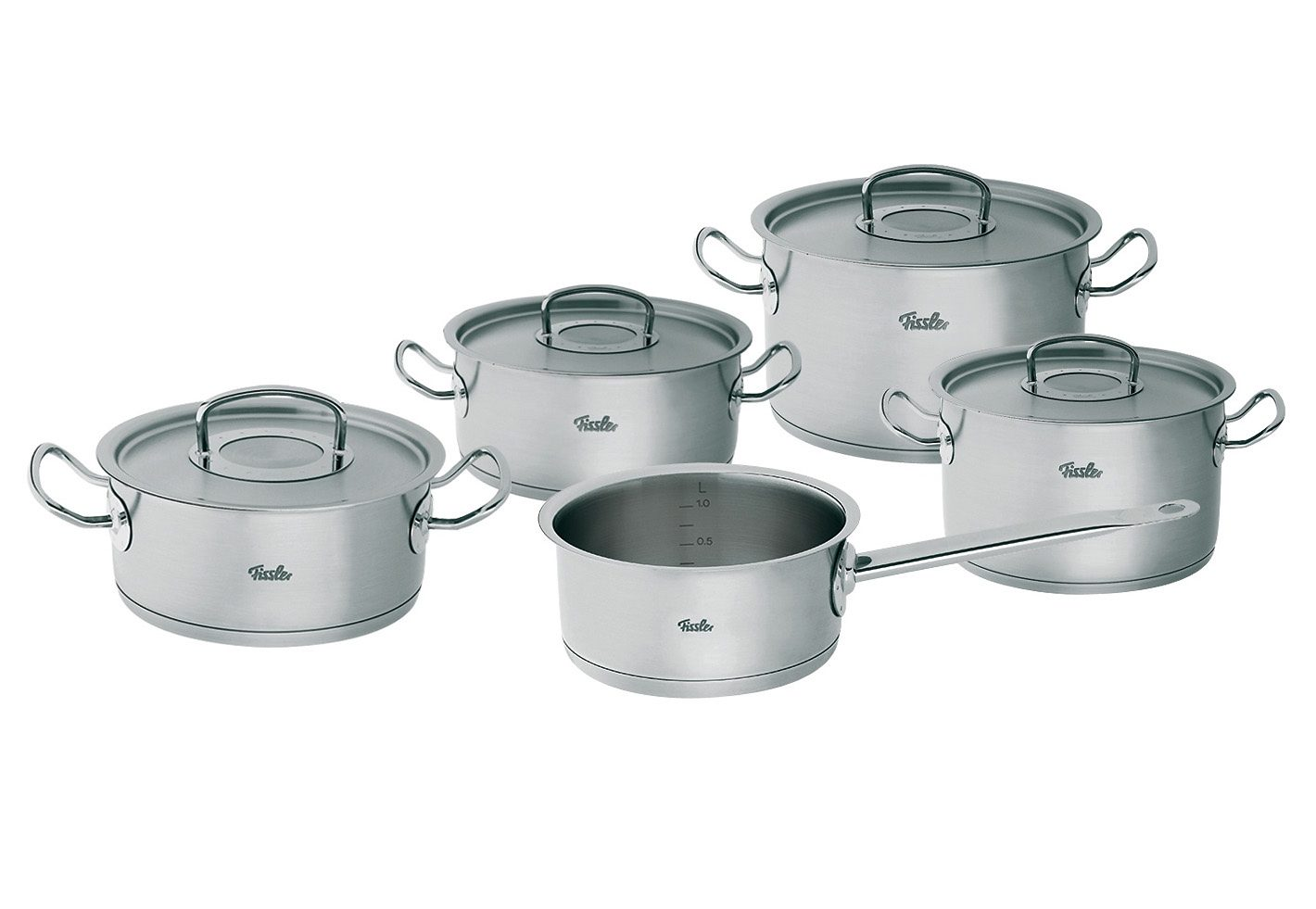 Topf-Set, Edelstahl 18/10 , »orginal-profi collection«, Fissler (9tlg.)
