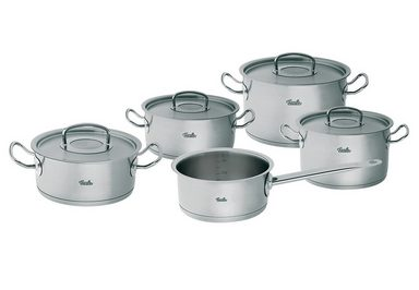 topf set edelstahl 18 10 orginal profi collection fissler 9tlg online kaufen otto. Black Bedroom Furniture Sets. Home Design Ideas