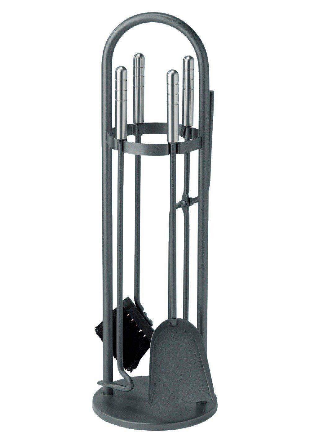 Südmetall Kaminbesteck »Eisen beschichtet«, Set 4 tlg., Griffe aus Edelstahl | Wohnzimmer > Kamine & Öfen > Kaminbestecke | Südmetall