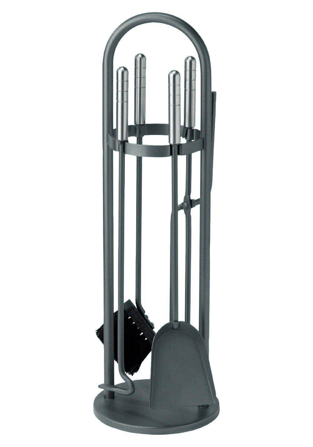 Südmetall Kaminbesteck »Eisen beschichtet«, Set 4 tlg., Griffe aus Edelstahl