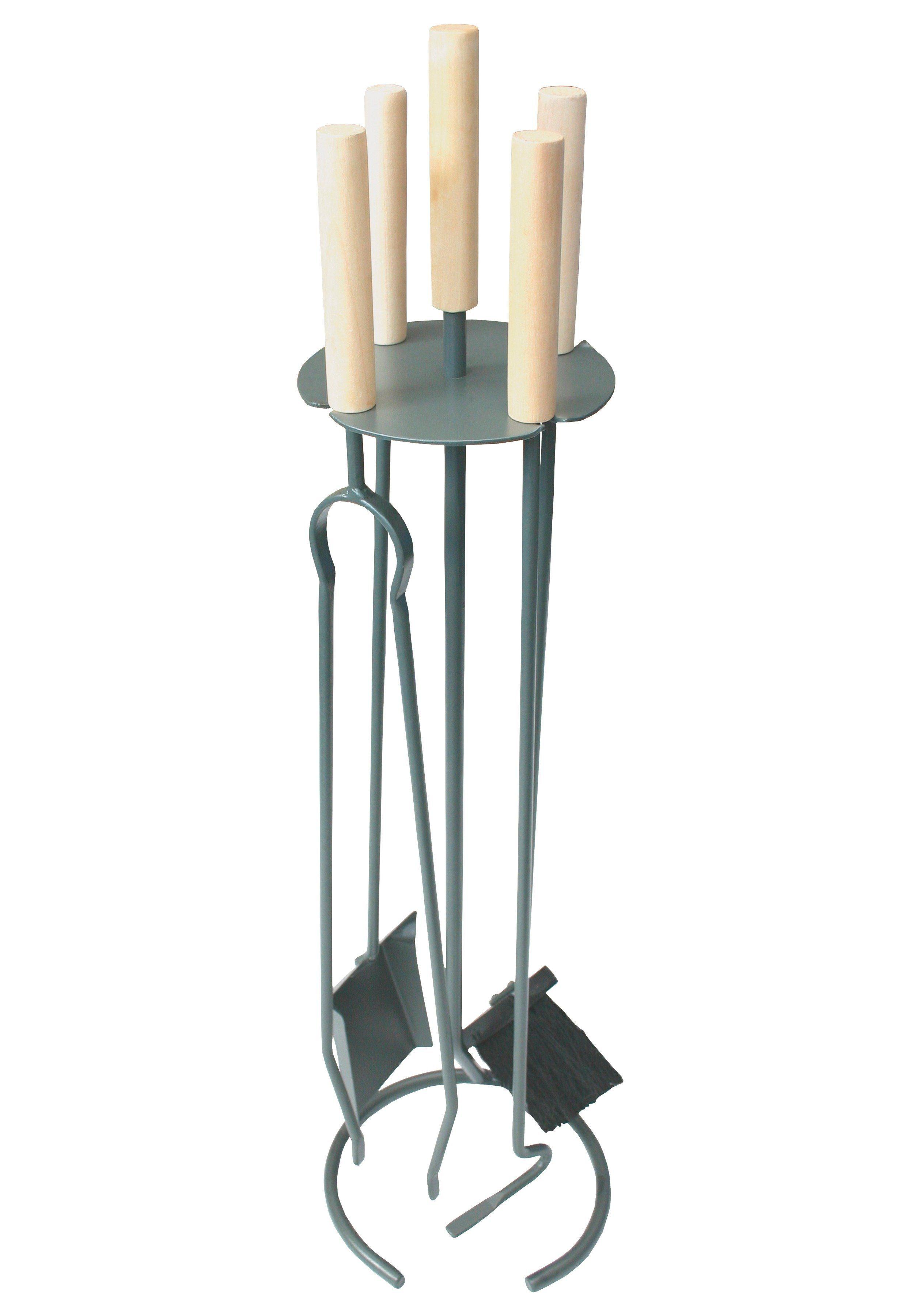Südmetall Kaminbesteck »Eisen beschichtet«, Set 4 tlg., Griffe aus Holz