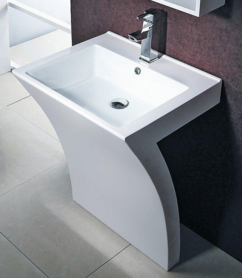 Cornat Mineralgussmarmor Waschplatz / Waschbecken »Seven« Breite 55,5 cm