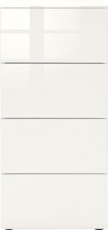set one by musterring kommode arizona hochglanz breite 46 cm online kaufen otto. Black Bedroom Furniture Sets. Home Design Ideas