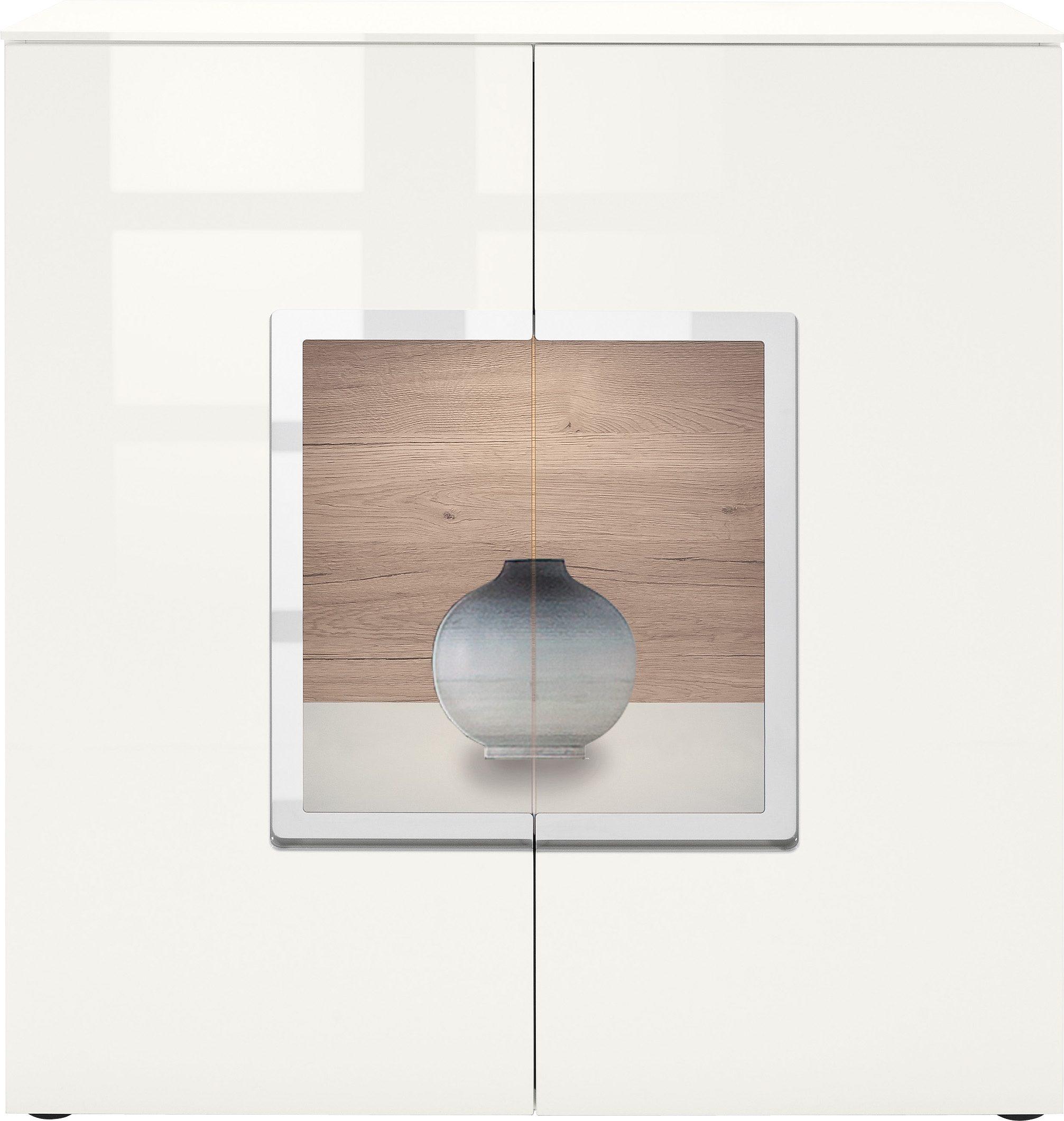 set one by Musterring Sideboard »arizona«, Hochglanz mit Glaseinsatz, Breite 95 cm