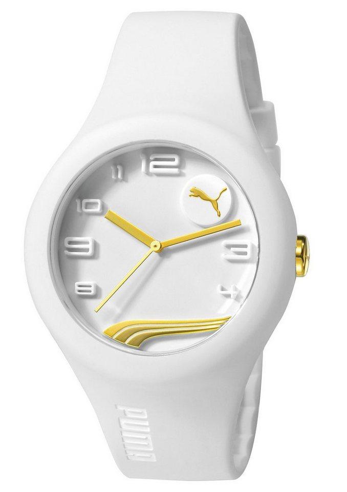 PUMA Quarzuhr »PUMA 10300 FORM - White Gold, PU103001013« in weiß