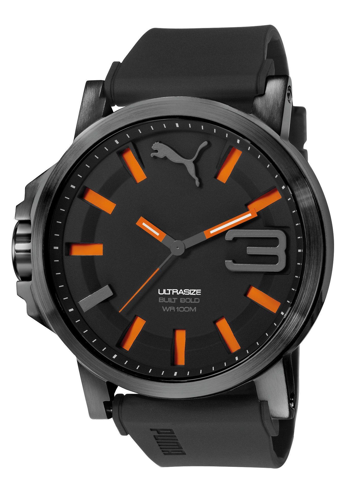 PUMA Quarzuhr »PUMA 10391 ULTRASIE 50 BOLD - Black Orange, PU103911001«