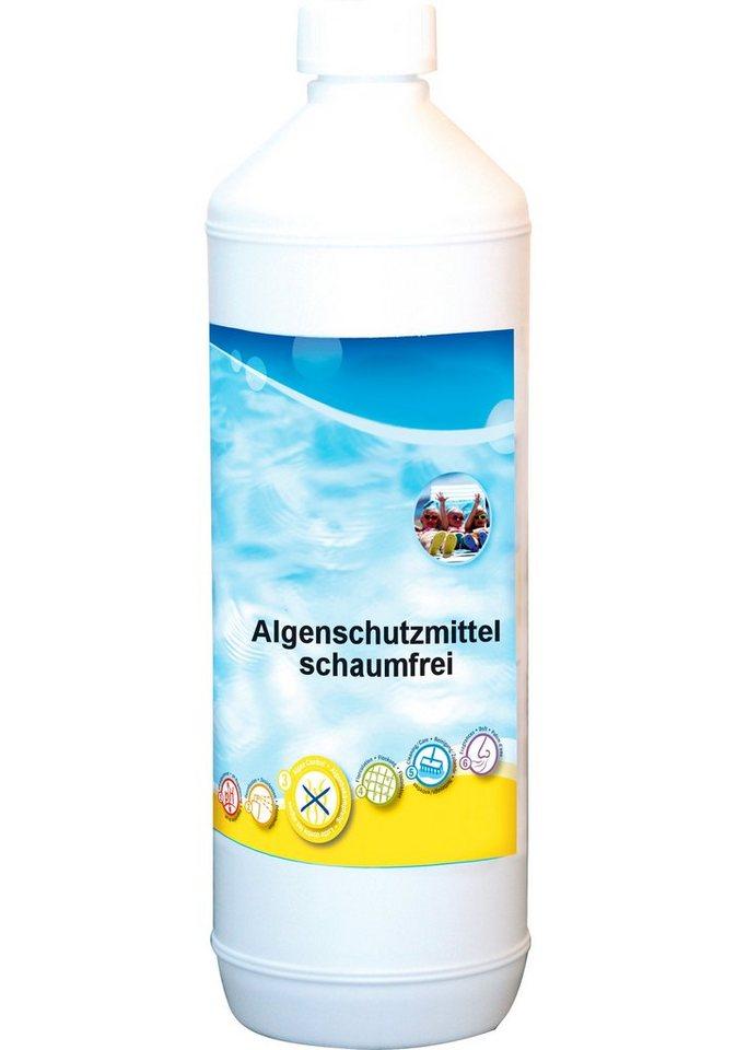 Wasserpflege »Algenschutzmittel 1 L Flasche, schaumfrei« in weiß