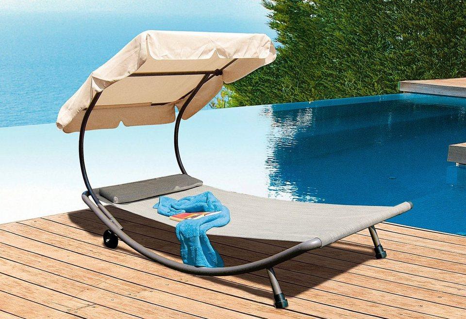 leco gartenliege stahl textil online kaufen otto. Black Bedroom Furniture Sets. Home Design Ideas