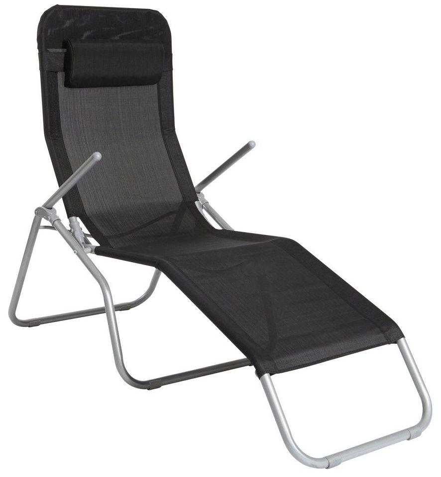 wellnessliege xxl stahl textil inkl kopfkissen online kaufen otto. Black Bedroom Furniture Sets. Home Design Ideas