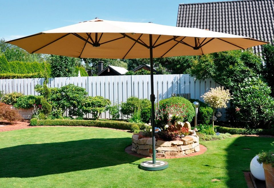 Sonnenschirm »Oval« in natur