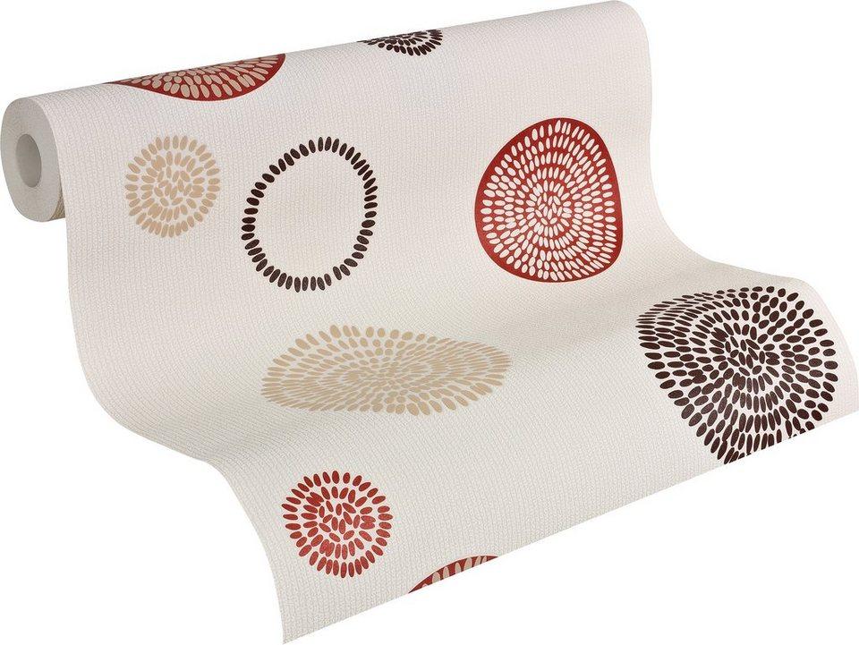 vliestapete livingwalls mustertapete hula hoop otto. Black Bedroom Furniture Sets. Home Design Ideas